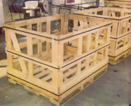 Two Wooden Open Shipping Crates