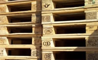 Graphic Image of stacks of Certified Euro Pallets