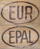 Graphic Image of the Trademark of the Official EUR/EPAL Euro Pallet
